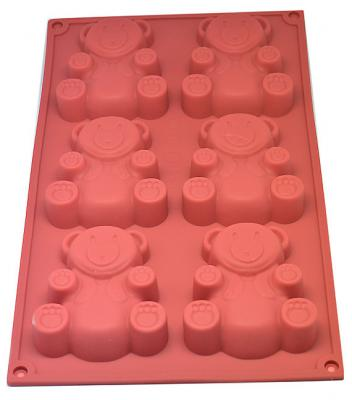 Teddy Bear Silicone Soap Mould - 100gms,  Cosmetic Junction