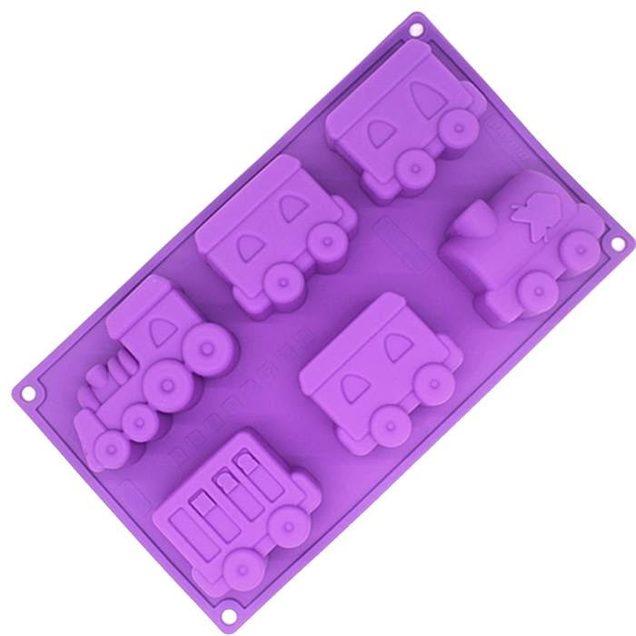 Train Silicone Soap Mould,  Cosmetic Junction