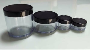 Transparent Acrylic San Jars with Inner Lid,  Cosmetic Junction