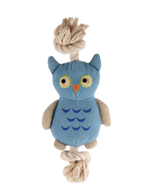 SimplyFido Natural Canvas Little Joe Owl Rope Toy