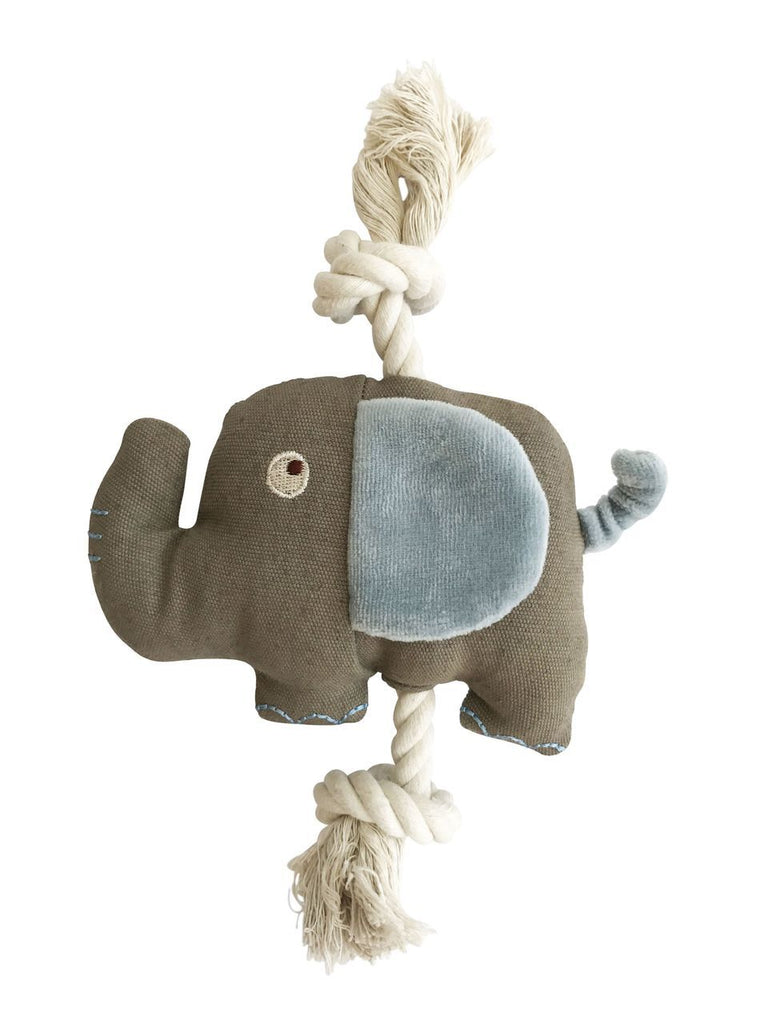 SimplyFido Natural Canvas Ellie Elephant Rope Toy