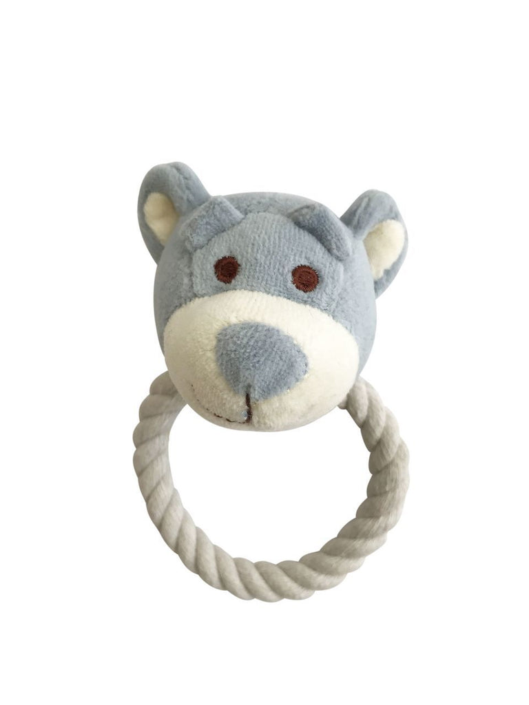 SimplyFido Beginnings Organic Wally Bear Rope Toy