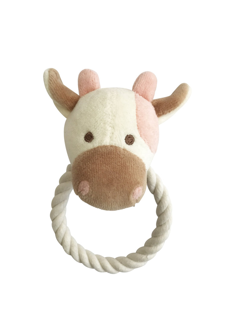 SimplyFido Beginnings Millie Cow Rope Toy