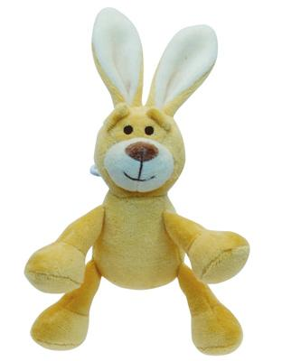 "SimplyFido Beginnings 4"" Lucy Bunny Squeaker Dog Toy"