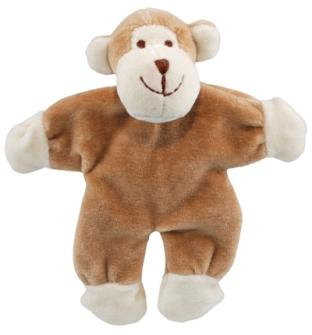 "SimplyFido Beginnings 4"" Oscar the Monkey Stuffless Crinkle Paper Dog Toy"