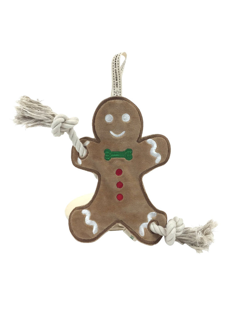 SimplyFido Gingerbread Man Stuffless Rope Toy