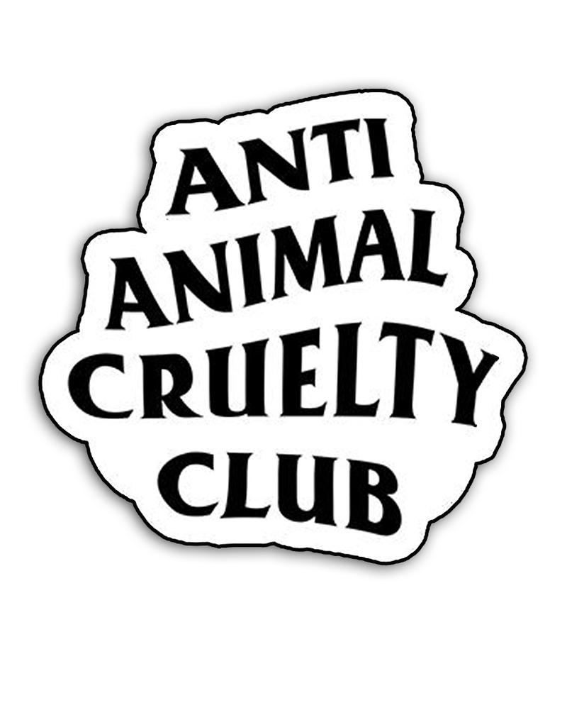 ATA Anti Animal Cruelty Club Die-Cut Sticker