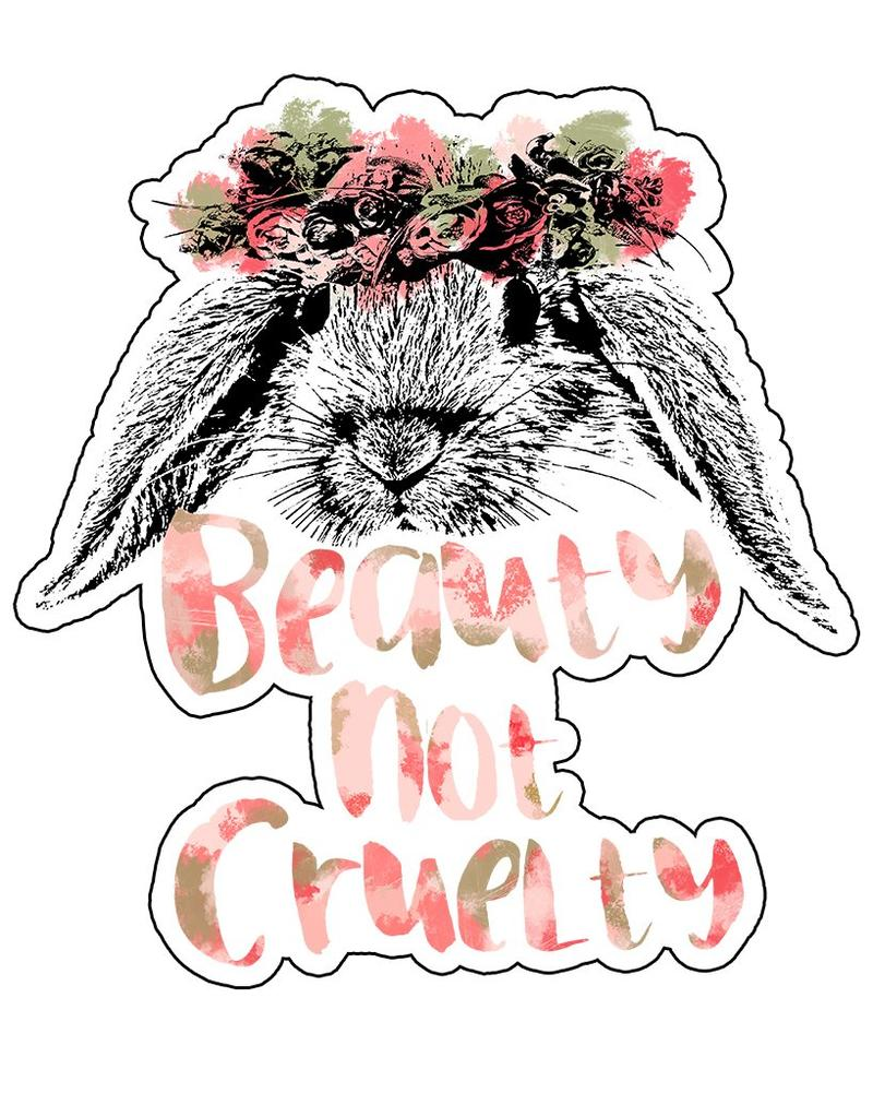 ATA Beauty Not Cruelty Die-Cut Sticker