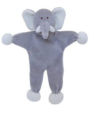"SimplyFido Organic 9"" Ellie the Elephant Stuffless Crinkle Dog Toy"