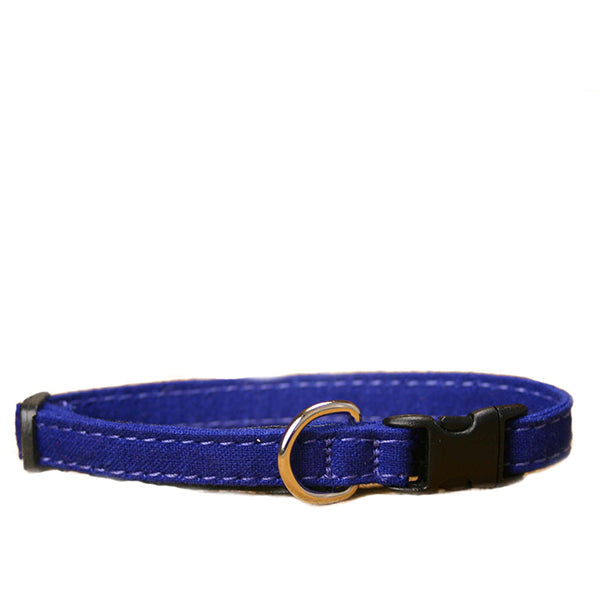 The Good Dog Co Hemp Canvas Cat Collar w/Safety Kitty Klip