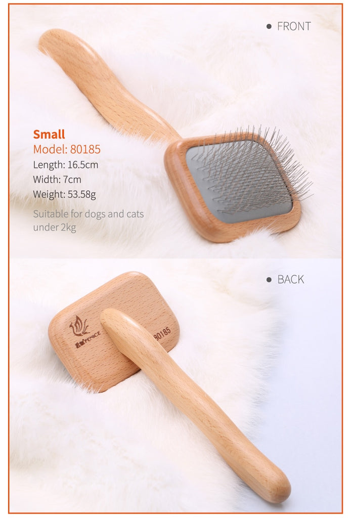 Fenice Professional Beech Wood Pet Slicker Brush