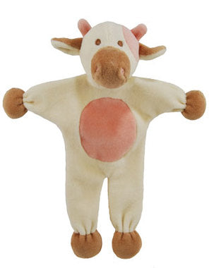 "SimplyFido Organic 9"" Millie the Cow Stuffless Crinkle Dog Toy"