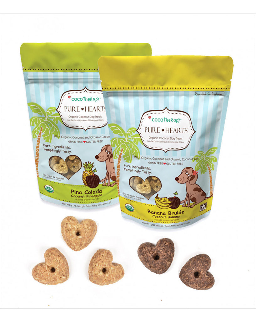 CocoTherapy Pure Hearts Coconut Cookies Banana Brulée