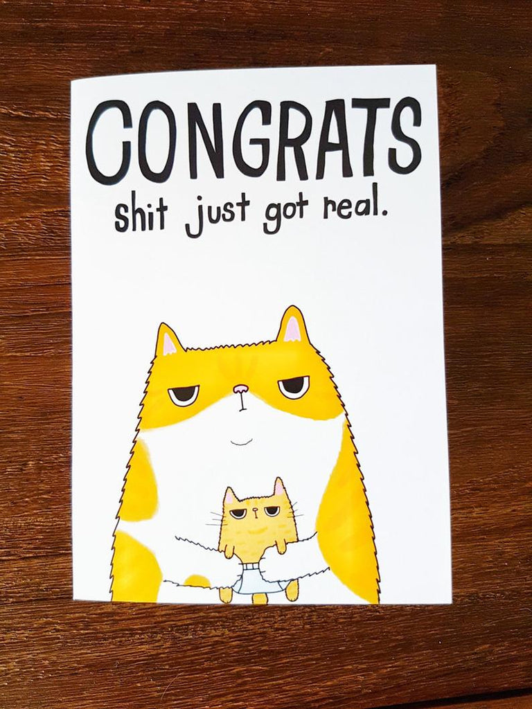 SteakandEggsPlease New Baby Grumpy Cat Card