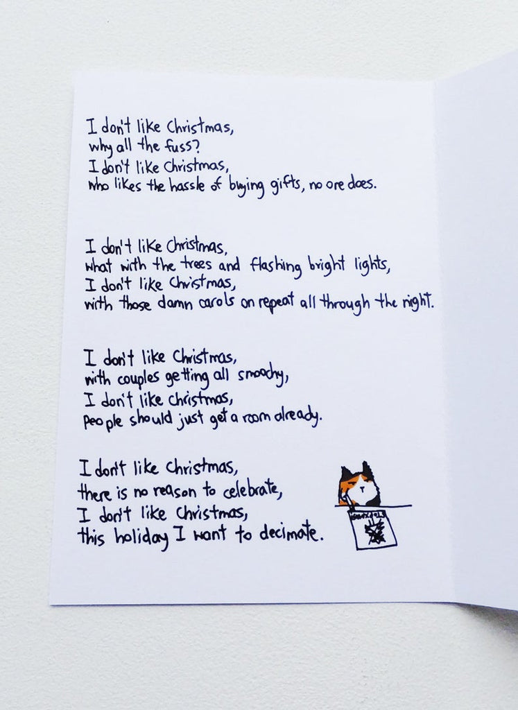 SteakandEggsPlease Grumpy Cat Christmas Card