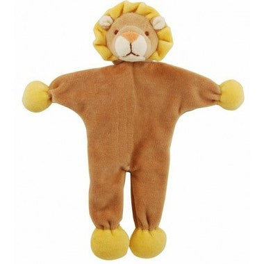 "SimplyFido Organic 9"" Leo the Brown Lion Stuffless Crinkle Dog Toy"