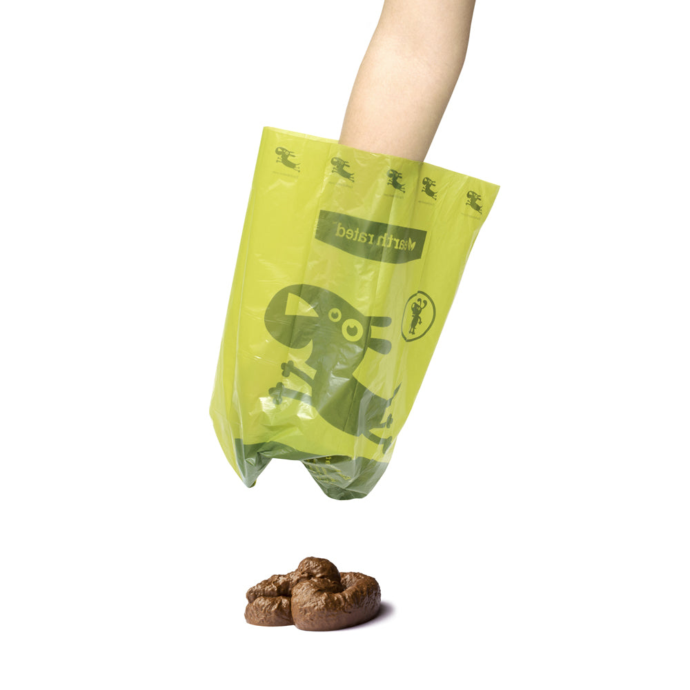 Earth Rated® Green Dog Waste Bag Dispenser for Leash (Includes 15 scented bags)