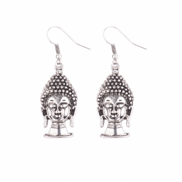 Silver/Gold Plated Buddha Dangle Earrings - BuddhaFeeling