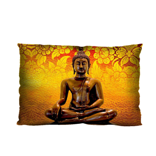 Yoga Buddha Pattern 20* 30 Inch Polyester Zippered Rectangle Pillow Case Cover(Twin Sides) - BuddhaFeeling
