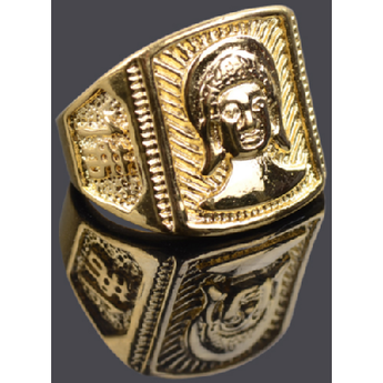 18k gold-plated Buddha ring, large sizes - BuddhaFeeling
