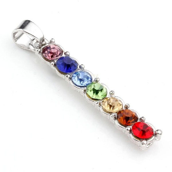 7 Chakra Inlaid Crystal Stone Reiki Necklace - BuddhaFeeling