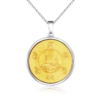 Gold Plated  6 Mantras Buddha Necklace - BuddhaFeeling