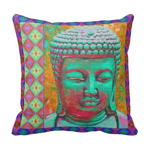 "Relaxing Buddha Pillow Case (Size: 20"" by 20"") - BuddhaFeeling"