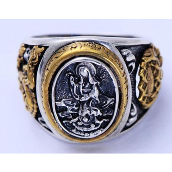 Real Pure 925 Sterling Silver Mother Buddha Rings - BuddhaFeeling
