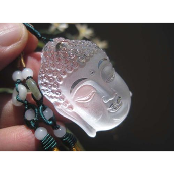 Natural 100% Clear Crystal Ru-Lai Buddha Pendant Carving - BuddhaFeeling