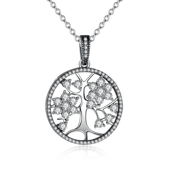 "- Necklace Pendant ""Tree of Life"" 100% silver / Zirconia"