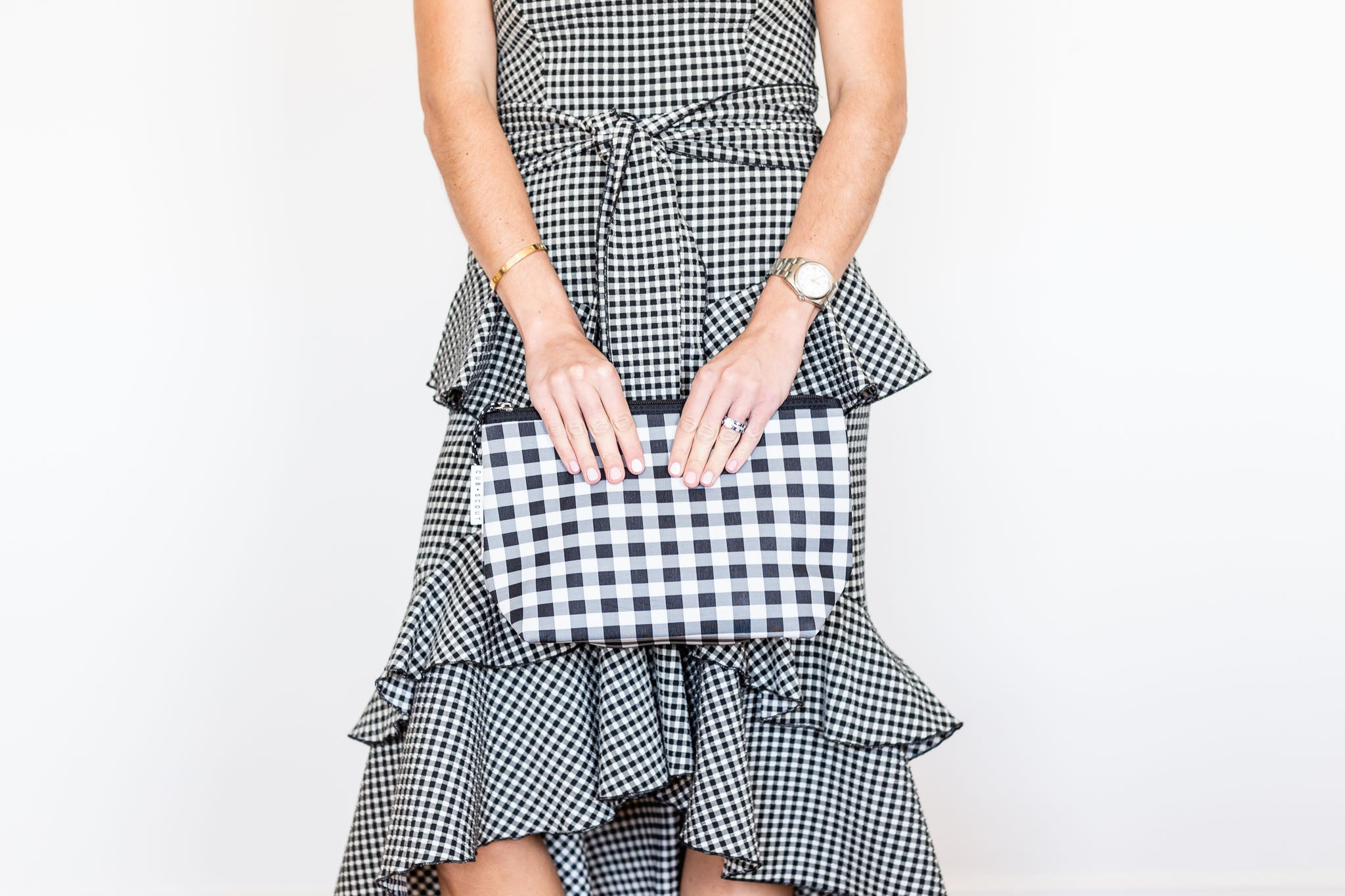 THE POUCH - GINGHAM