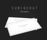 THE CUB + SCOUT GIFT CARD BEACH BAG-GIFT CARD-CUB+SCOUT
