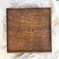 Album Box -10x10'' - Natural Wooden Box Co.