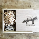 "USB/6X4"" PRINT BOX - RUSTIC - Natural Wooden Box Co."