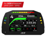 KAWASAKI ZX-10R 2011 - 2015  AIM MXK10 - GEN 4 P&P Road Legal Dash With FREE GPS Sensor