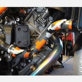KTM 1290 Super Duke GT 2016-2018 2 Piece Samco Sport Y-Piece Race Design Silicone Radiator Coolant Hose Kit