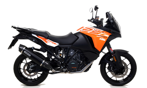 "KTM 1290 ADVENTURE Arrow Collector NO CAT, Maxi Race-Tech aluminium ""Dark"" silencer with carby end cap"