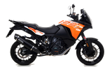 "KTM 1290 ADVENTURE Arrow Maxi Race-Tech aluminium ""Dark"" silencer with carby end cap"