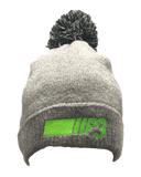 P3 Grey Beanie with bobble
