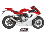 MV AGUSTA F3 800 2013 - 2016 SC-Project Conical Muffler, Titanium, with Carbon fiber end cap