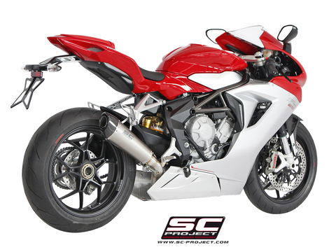 MV AGUSTA F3 675 2011 - 2016 SC-Project Conical Muffler, Titanium, with Carbon fiber end cap