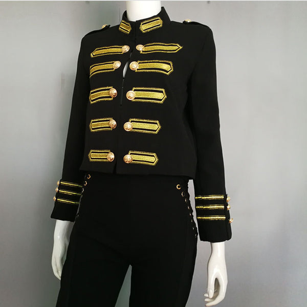 Double Breasted Military Streetwear Coat
