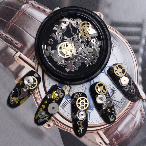 Acrylic Design Steam Punk Nail Art
