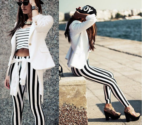Black and White Pattern Leggings