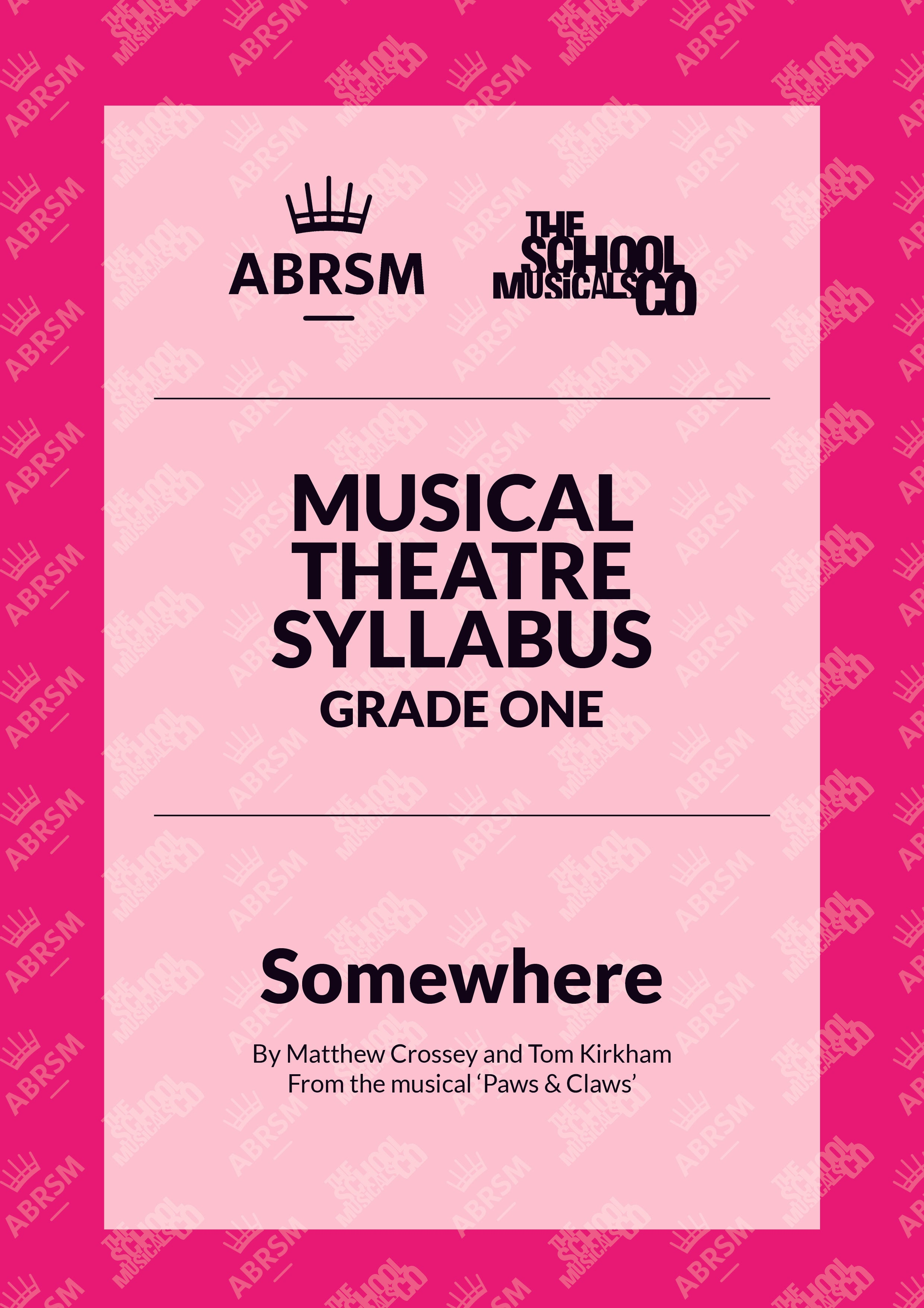Somewhere - ABRSM Musical Theatre Syllabus Grade One