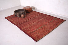 Stylish Moroccan Straw and Wool Mat (5.4ft x 8.4ft)