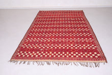 North African Straw Wool Leather Rug (6.2ft x 9.6ft)