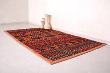 Handwoven & Classic African Red Mat (6.1ft x 8.5ft)
