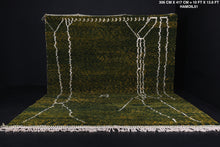 Green Wool Beni rug, Custom berber carpet