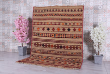 Berber Straw Mat and Wool (5.8 ft x 8.3 ft)